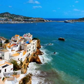 Sa Penya District in Ibiza Town, Balearic Islands, Spain