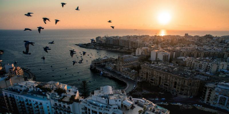 Balluta Bay Malta sunset