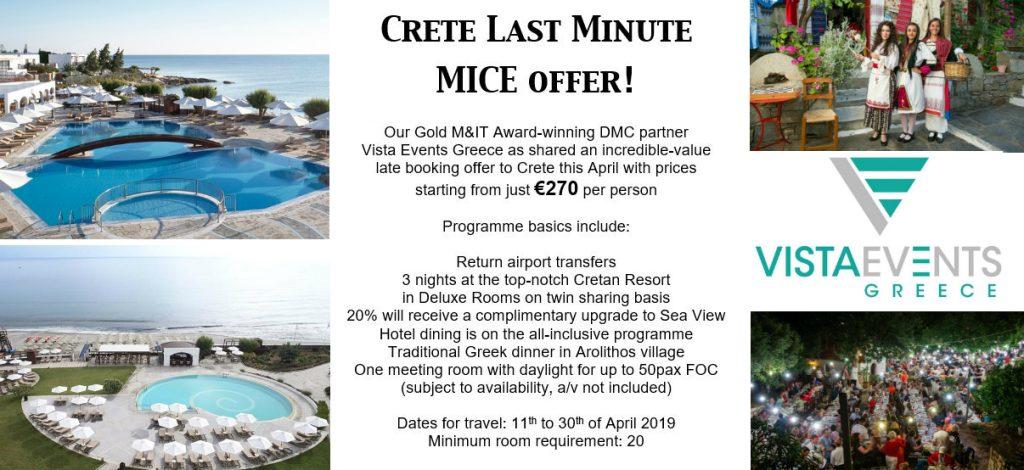 Crete offer Vista Events DMC